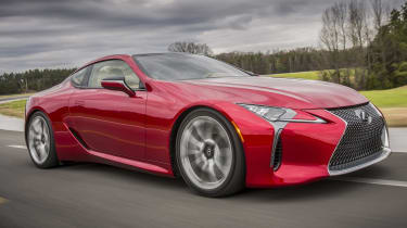 The Lexus LC is a stunning new model inside and out, available with either a 5.0-litre V8 or hybrid powertrain