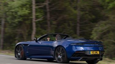 Aston Martin DBS Superleggera Volante rear 3/4 action