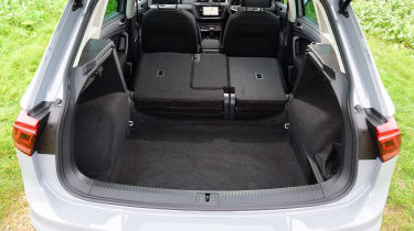 Volkswagen Tiguan SUV boot seats folded down