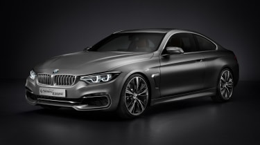 BMW 4 Series Coupe 2013 front quarter