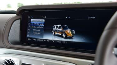 Mercedes G-Class SUV infotainment display