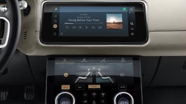 2021 Range Rover Velar P400e plug-in hybrid infotainment system