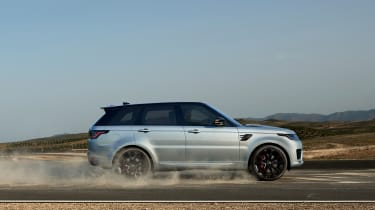 Range Rover Sport HST special edition side view driving