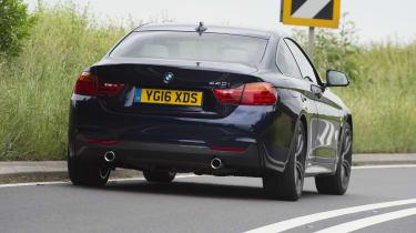 BMW 435i coupe - rear 3/4 dynamic