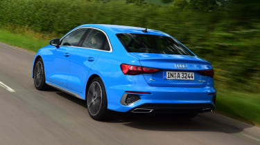 Audi A3 saloon rear 3/4 tracking