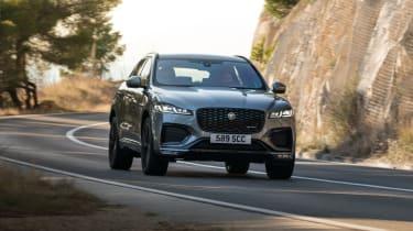 2020 Jaguar F-Pace - front 3/4 static dynamic