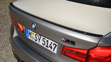 BMW M5 Competition - rear lip spoiler close-up