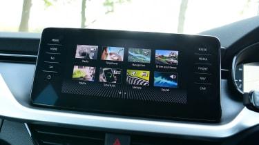 Skoda Kamiq SUV infotainment display