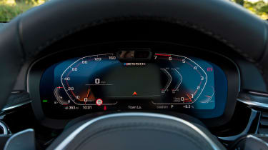 BMW 5 Series saloon instrument display