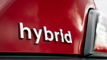 Hyundai Kona Hybrid SUV badge