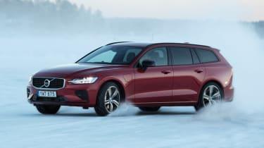 Volvo V60 T8 Twin Engine hybrid cornering