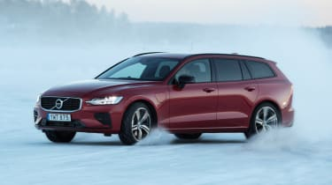 Volvo V60 T8 Twin Engine hybrid cornering