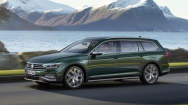 2019 Volkswagen Passat AllTrack side quarter driving
