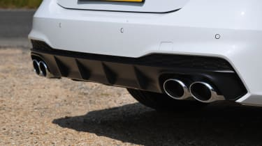 Audi S7 hatchback exhaust tailpipes