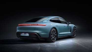 2020 Porsche Taycan 4S - Rear 3/4 static