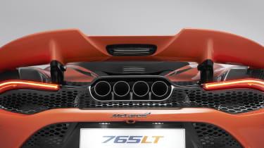 McLaren 765LT rear end detailing