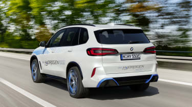 BMW iX5 Hydrogen - rear 3/4 dynamic