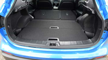 Nissan Qashqai - rear boot space with rear seats folded