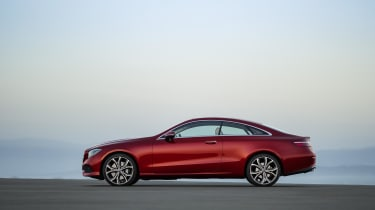 The E-Class Coupe follows Mercedes' latest design language, so calls to mind the smaller C and larger S-Class Coupes