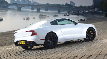 Polestar 1 coupe rear 3/4 static