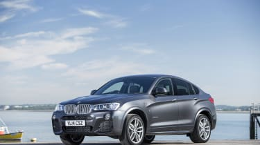 The BMW X4 SUV is based on the BMW X3, but trades some practicality for coupe-style looks