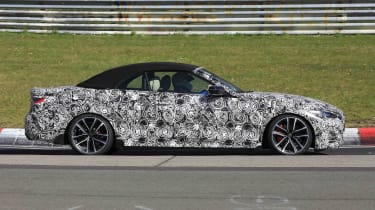 BMW 4 Series Convertible prototype - side view