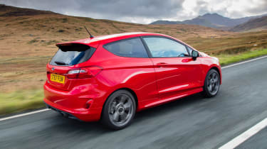 Ford Fiesta hatchback rear 3/4 tracking