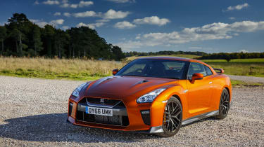 Nissan GT-R coupe front 3/4 static