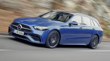 2021 Mercedes C-Class estate driving
