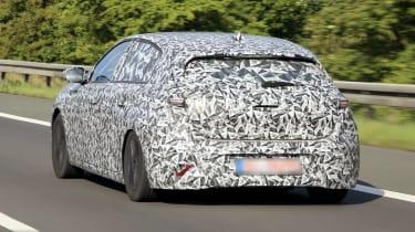 2021 Peugeot 308 prototype - rear 3/4 dynamic view