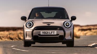 2021 MINI hatchback driving - front end