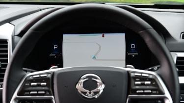 SsangYong Rexton SUV digital instrument display