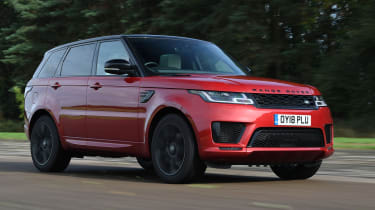 Range Rover Sport SUV driving