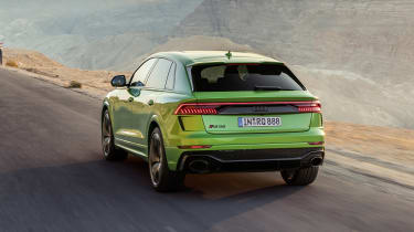 Audi RS Q8 driving - rear view
