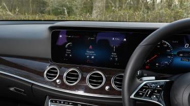 Mercedes E-Class saloon infotainment display