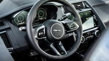 Jaguar E-Pace SUV review steering wheel