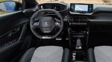 Peugeot e-208 hatchback interior