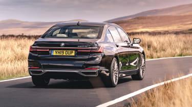 BMW 7 Series saloon - rear 3/4 dynamic view