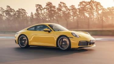 Porsche 911 coupe side track