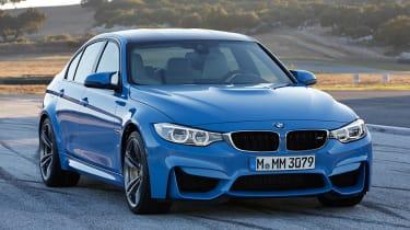 BMW M3 saloon 2014 front quarter static