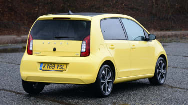 Skoda Citigo e iV hatchback rear 3/4 static