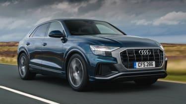 Audi Q8 S line - front 3/4 driving