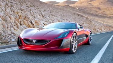 The Rimac Concept One can cover the 0-60mph dash in 2.5 seconds