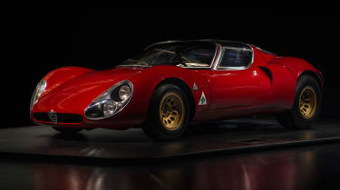 Not only is the race-car based 33 Stradale sensational to look at, it's one of the most expensive classic cars you can buy