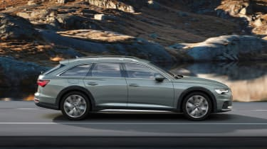New 2019 Audi A6 Allroad estate - side view driving