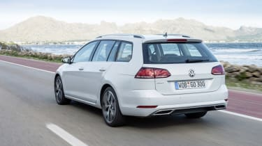 When one of the more powerful engines is fitted, the Golf Estate makes a comfortable, capable motorway cruiser