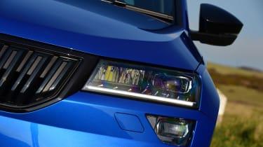 Skoda Karoq SUV headlights