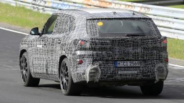 2022 BMW X8 SUV prototype - rear view