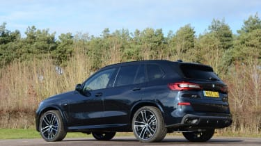 BMW X5 xDrive45e SUV rear 3/4 static