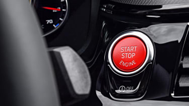 BMW M5 Competition - start/stop button